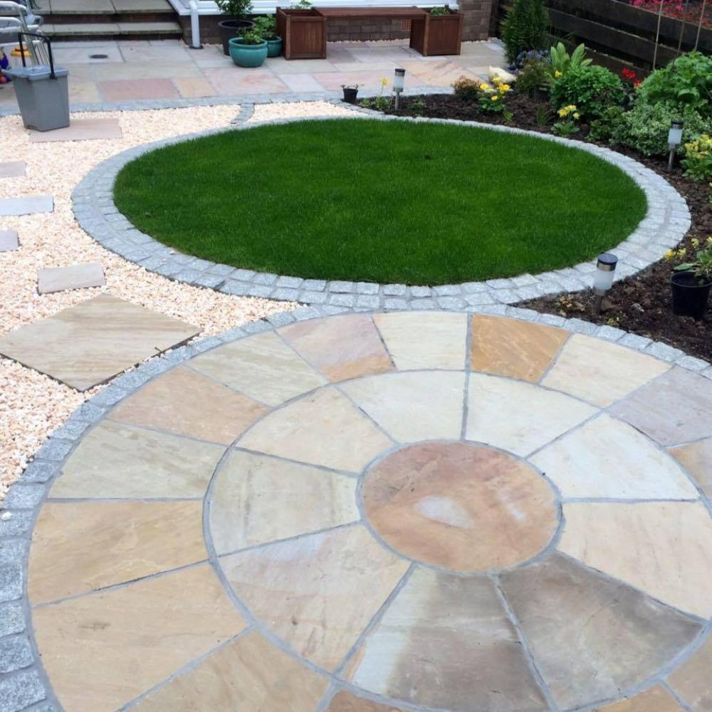 Sandstone Patio and Grass