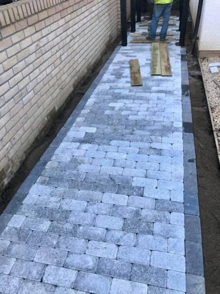 Granite Block Paving and Planters